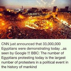 OccupyEgypt - The largest political event in the history of mankind!