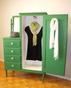 A refurbished wardrobe on etsy.  So pretty!  So Sold! :(  http://www.etsy.com/listing/44114269/stella-wardrobe-reserved-for-dana