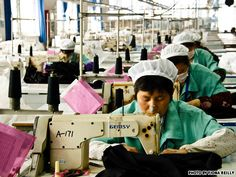 Shanghai factory workers