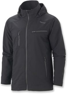 I like this Jacket a lot. Its a softshell and slightly waterproof. So in servere storms I would probably need a hard shell waterproof layer.