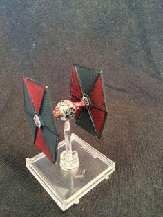 Star Wars X-wing miniature game TIE Fighter, Custom Obsidian Squadron Paint