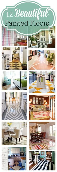 Twelve Beautiful Painted Floors - My Dream House - Painted Wood Floors, Painted Furniture, Plywood Furniture, Furniture Design, Diy Flooring, Laminate Flooring, Penny Flooring, Ceramic Flooring, Plywood Floors