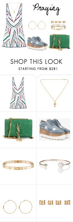 """Praying"" by anaelle2 ❤ liked on Polyvore featuring Milly, Chrome Hearts, Yves Saint Laurent, STELLA McCARTNEY, Cartier, Letters By Zoe, Valentino and Maison Margiela"