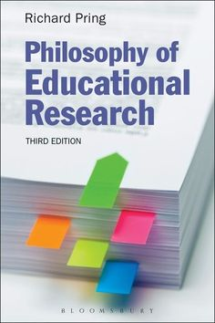 PHILOSOPHY OF EDUCATIONAL RESEARCH de Richard Pring. Contents : Setting the scene: criticisms of educational research, Doing philosophy: defining what you mean, The focus of educational research: practice and policy, Research methods: philosophical issues they raise, Quantitative and qualitative research: a false dualism, Key concepts and recurring conflicts, Competing philosophical positions Research into practice: action and practitioner research, Qua... Cote : 8-52 PRI