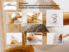 Piezas elaboradas en cobre con baño de plata