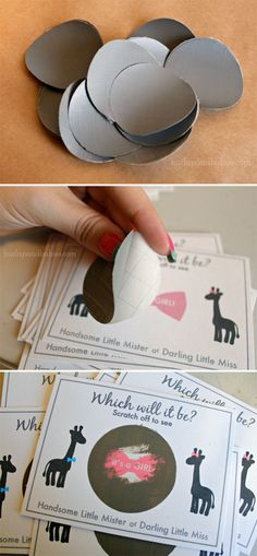 Free gender reveal scratch-it printable for boy and girl!