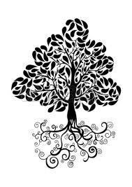 simple double tree roots branches - Google Search