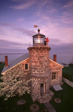 Old Stonington Harbor Lighthouse. Stonington, Connecticut . Est by the US Federal Gov., bu. in 1823 It is now a museum