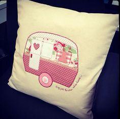handmade applique caravan cushion covers - Google Search
