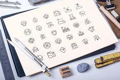Nature Minimalist Icons Set by blanaroo on @creativemarket