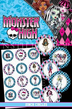 Favors - Monster High Printable Favor Tags 12 Pk.