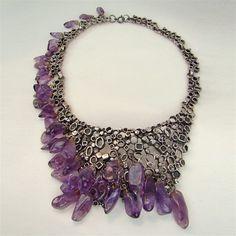 vintage 1940s modernist amethyst necklace