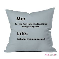 Pink Lemon Design Pillow #pillow #design #lifestyle #printed #home #inspiration #bed #bedroom #style #flat