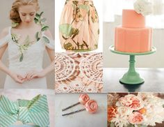 Mint Green Wedding Cakes | Sources: Kiss the Groom , Skirt, Cake , Bow tie , Flowers like color motif