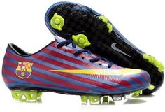New Nike Mercurial Vapor Superfly III Elite Safari FG Firm Ground Barcelona Team Soccer Cleats Blue/Red/Yellow