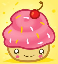 How to Draw a Kawaii Cupcake, Step by Step, Food, Pop Culture, FREE Online Drawing Tutorial, Added by Dawn, March 19, 2012, 1:56:05 pm
