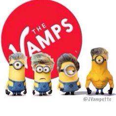 "the vamps minions. The brad minion is like: ""So he's got muscles but I got the hair."""