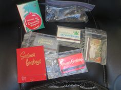 Vintage Box of Xmas Hooks and 1960s Holiday Matches by HolySerendipity on Etsy