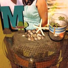 Beach Themed Baby Shower Welcome Table