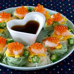 Somen is a perfect dish to serve on Tanabata, which is a festival celebrated on July 7th.