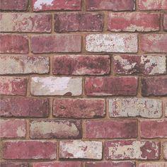 Graham & Brown Fresco Red Brick Wallpaper | Departments | DIY at B&Q