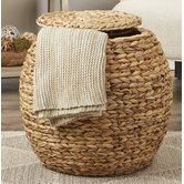 Found it at Wayfair - Hookton Wicker Storage Basket with Lid