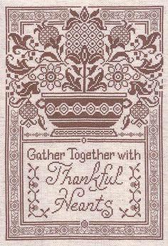 Thankful Hearts - Cross Stitch Pattern