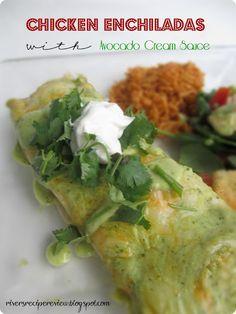 The Recipe Critic: Chicken Enchiladas with Avocado Cream Sauce