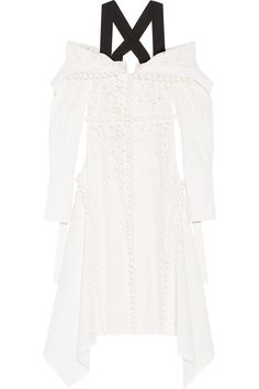 PROENZA SCHOULER Off-the-shoulder broderie anglaise cotton dress. #proenzaschouler #cloth #dress