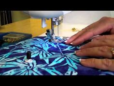 Sewing in Circles - go to (near) the end to see what she uses as a homemade circle device - VERY low tech :D