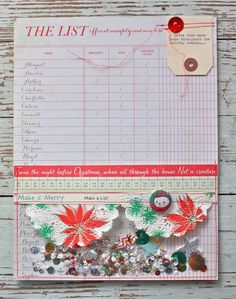 Great idea for a pocket page. Mish Mash: Project December....confetti list pocket