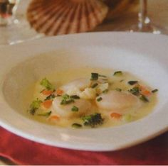 Coquille st. jacques met noilly prat saus (6 pers.).