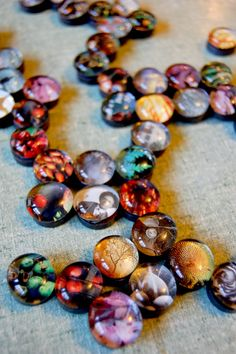 """Mama Storms shows us more magnets - these ones were made with glass nuggets & pictures from magazines ("""",)"""