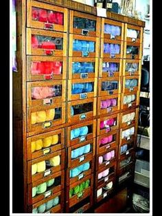 Found This Pic On Playing In The Attic A Dream Cabinet Max Deboer Yarn Storage Ideas