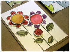 stephanie ackerman--her sizzix die cuts and distress markers