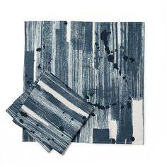 Brushstroke Napkin in Blue-Slate
