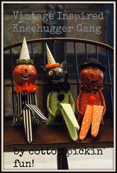PATTERN- Halloween Kneehugger Vintage Inspired Kneehugger Doll Pattern - 3 Patterns - PDF Instant Pattern, Kneehugger Elf, Knee hugger Elf