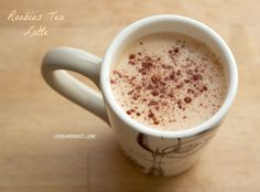 Roobios Tea Latte - skipping the sweetener and trying the immersion blender. I might need to try this today......