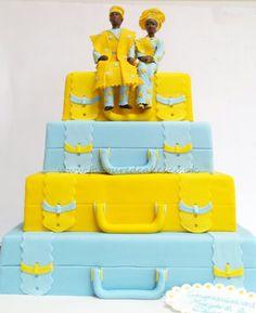 Nigerian traditional wedding / engagement cake