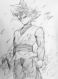Black Goku. Drawn by Young Jijii. Found by: #SonGokuKakarot