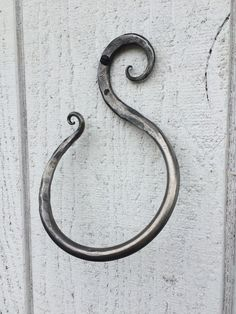 Hand forged wrought iron towel ring