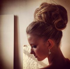 High updo #wedding