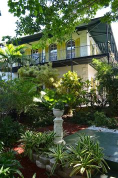 Ernest Hemingways beautiful estate in Key West.