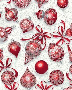 Holiday Flourish - Victorian Ornaments - Mist Gray/Silver