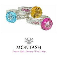 Splash of colour at MONTASH! #montashjewellerydesign #colouredgems #jewellerylove