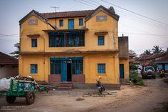 Yellow house. Doddagaddavalli, Hasan, Karnataka.