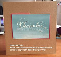 Craftastic Days with Stacy: Hello December Mini Book and Cards; 10 layout ideas also photographed; #stampinup; #holidaycatalog2015; #projectlife; Hello December 2015 Project Life Card Collection; Quick Christmas album