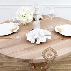 stół okrągły drewniany stół okrągły drewniany black bear house www.blackbearhouse.pl