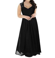 A lacey V-neck maxi dress that you can wear to other formal occasions and events, and look classy and put together.