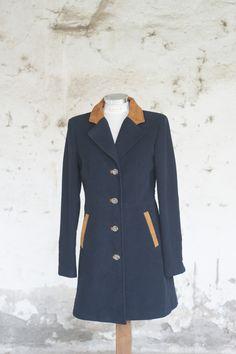 "Cappotto ""Albinia"" con inserti in pelle  Overcoat with leather inserts"